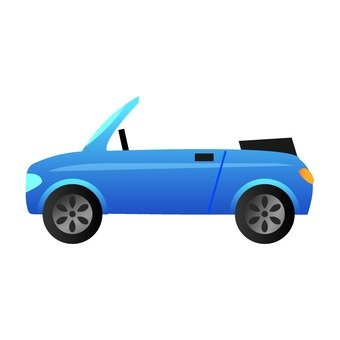 Blue open car