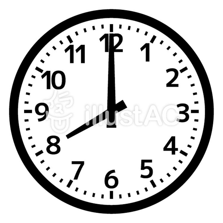 時計 シンプル 8時 学校の時計イラスト No 1294986無料イラストなら
