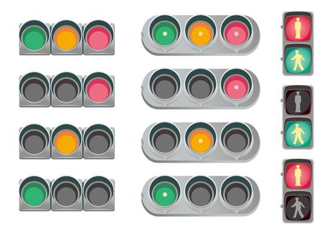 信号機 赤信号 青信号 黄色信号