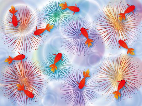 Goldfish and fireworks 2
