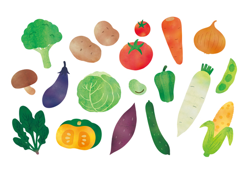 Vegetable watercolor