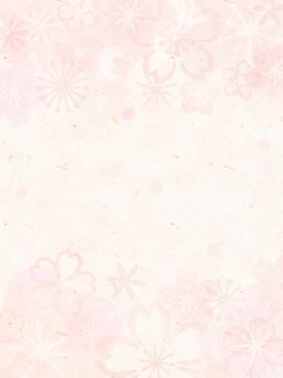 背景(和紙_桜01_縦)