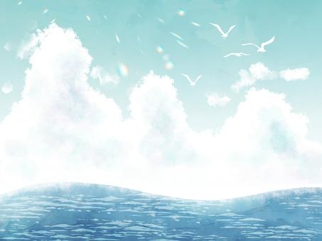 Sea and seagulls