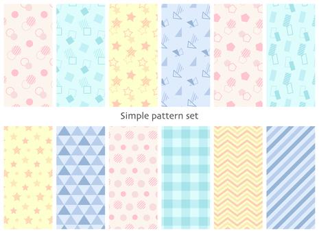 シンプルな形のパターン