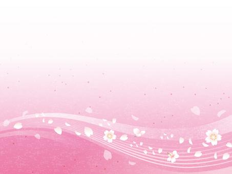 Cherry blossom running water image Japanese paper 01