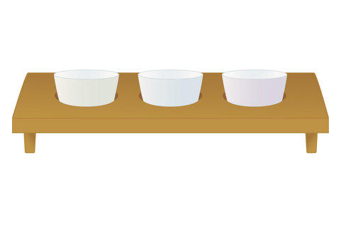 A comparison of three types of sake (Ochoko)