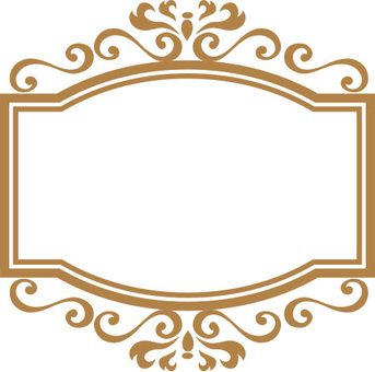 Decoration frame gold
