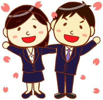 "Suit Men and Women (Sakura Version) ""Navy"""