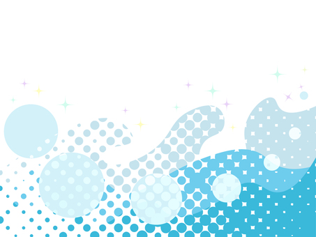 Dot pattern water surface and waterdrop image frame