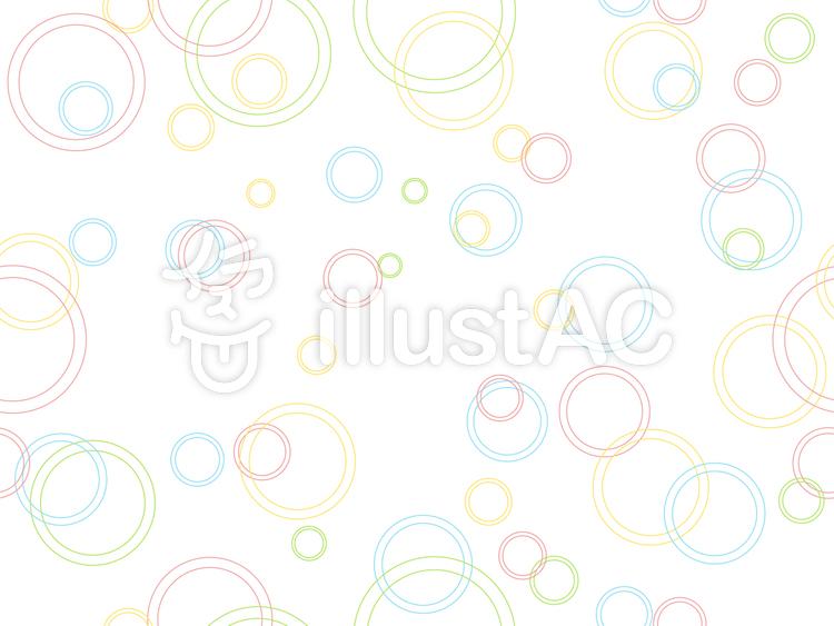 カラフルパターン-水紋のイラスト