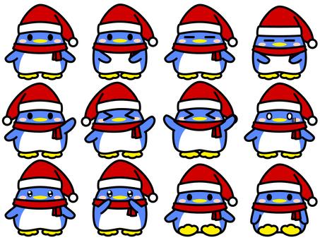 Penguin Santa Claus Illustration Collection