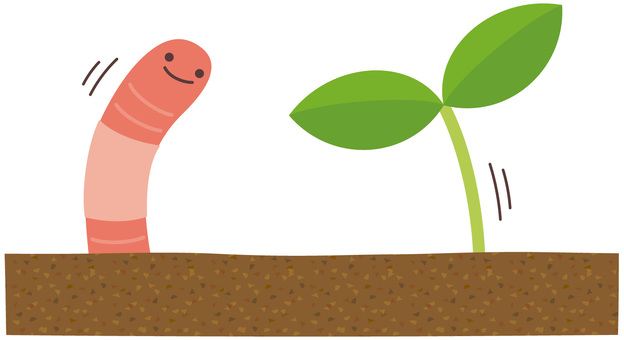 Leaves you are hello and earthworm-kun