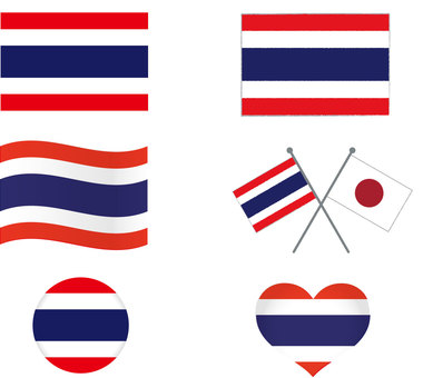Thai flag set