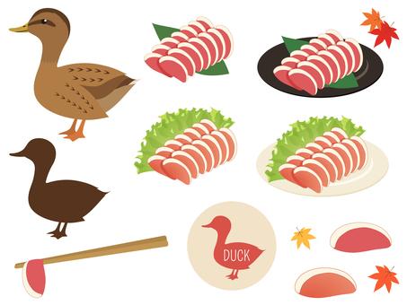 合鴨の鳥と肉のセット