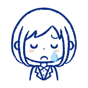 Business woman cries