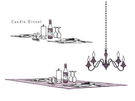 Candle dinner purple