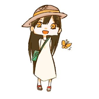 Summer vacation girl