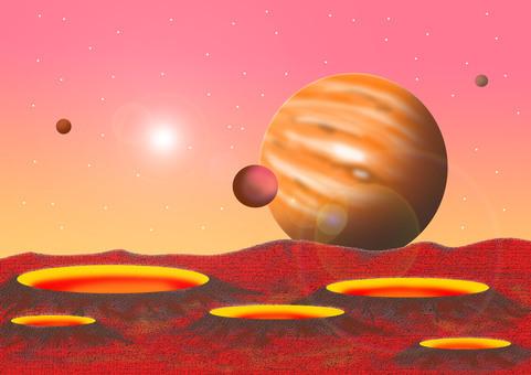 Volcano planet