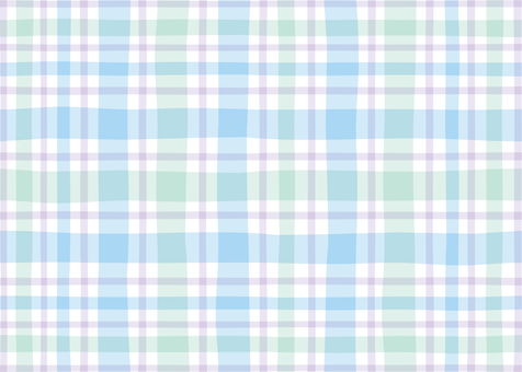 Check Pattern Natural Blue