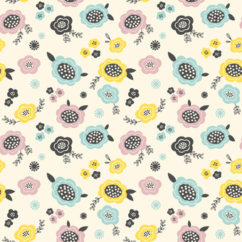 Scandinavian flower pattern pattern
