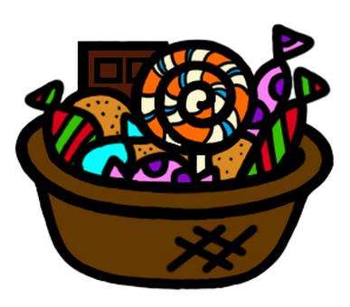 Halloween sweets basket