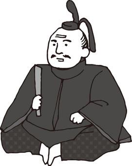 Warlords general (Ieyasu Tokugawa · monochrome)