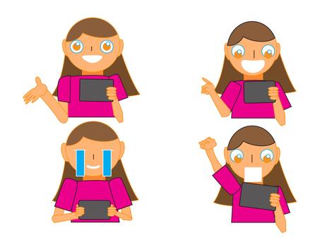 Woman enjoying a tablet