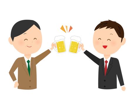 Men of a suit toast