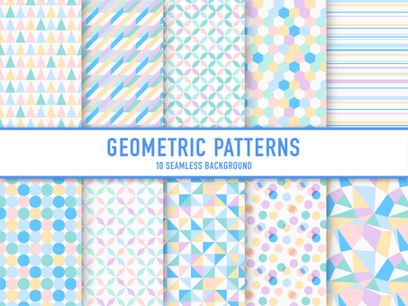 Set of geometric patterns (pastel)