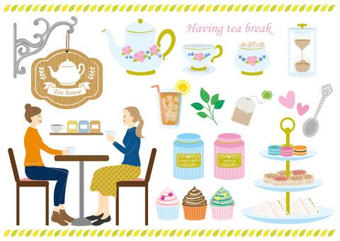 Tea house material