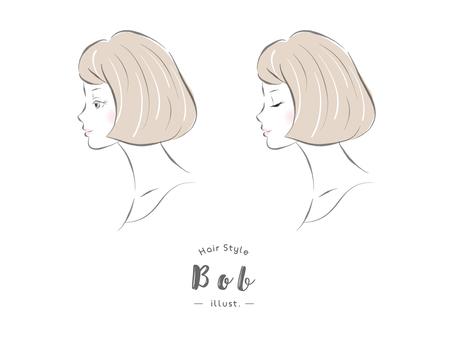 Hairstyle Bob female profile