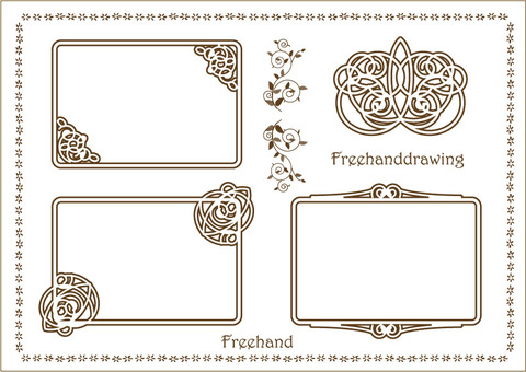 Decorative frame Romantic hand-painted