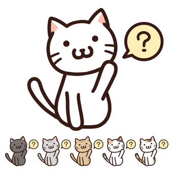 Free material of mysterious hatena cat