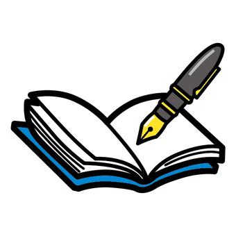 本 ノート 万年筆 日記 勉強 学習