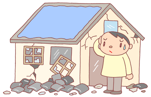 Earthquake / roof tile collapse