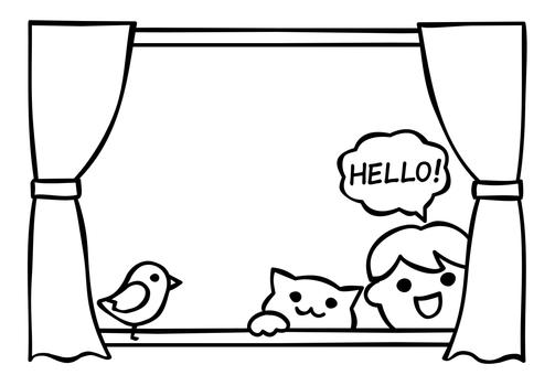 창문에서 HELLO!