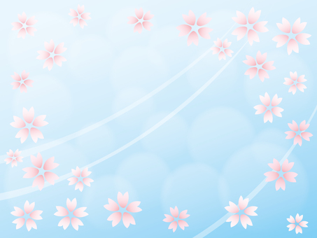 Wallpaper Sakura 02 sky color