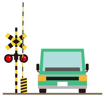 건널목와 자동차