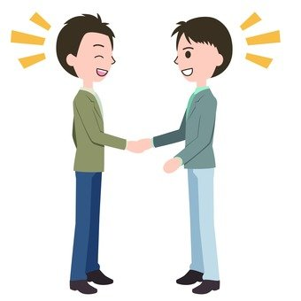 3名男子握手