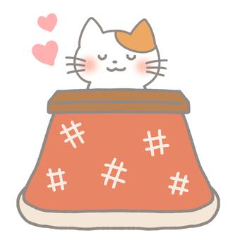 Kotatsu and cat (heart ver.)