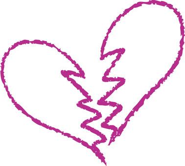 Heart (broken heart / purple)
