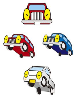 Face car character illustration