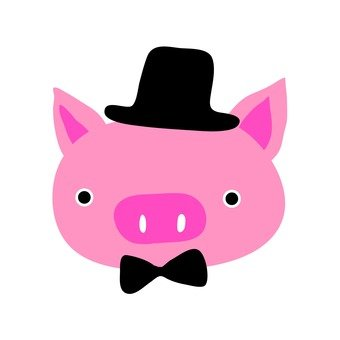 A gentle pig