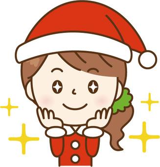 聖誕老人的女士期待
