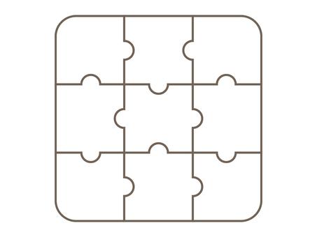 Puzzle piece jigsaw puzzle white