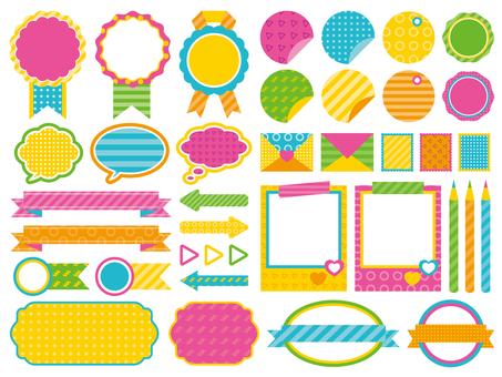 Pop colorful frame
