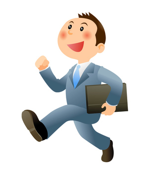 Energetic businessman