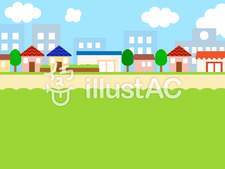 簡単な背景 街のイラスト