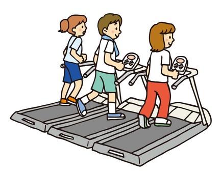 Sports gym runner