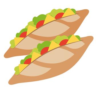 French bread sandwich